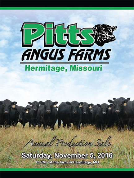 2016 Pitts Angus Farms Production Sale Catalog